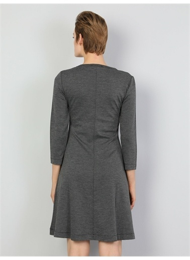 Colin's CL1047316_Q1.V2_ANT Slim Fit Kadın Antrasit Elbise Antrasit